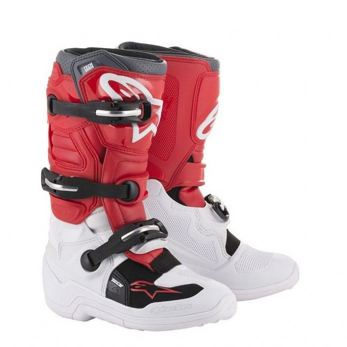 Alpinestars Tech 7s Youth White Red Grey